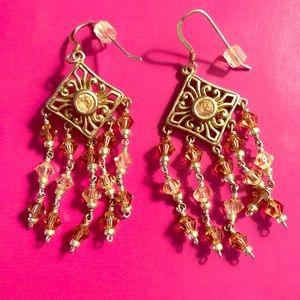 Jewelry - NWOT - Hanging Silver Tone Chandelier Earrings